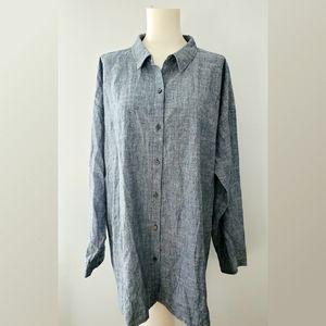 Eileen Fisher Chambrey Oversized Shirt